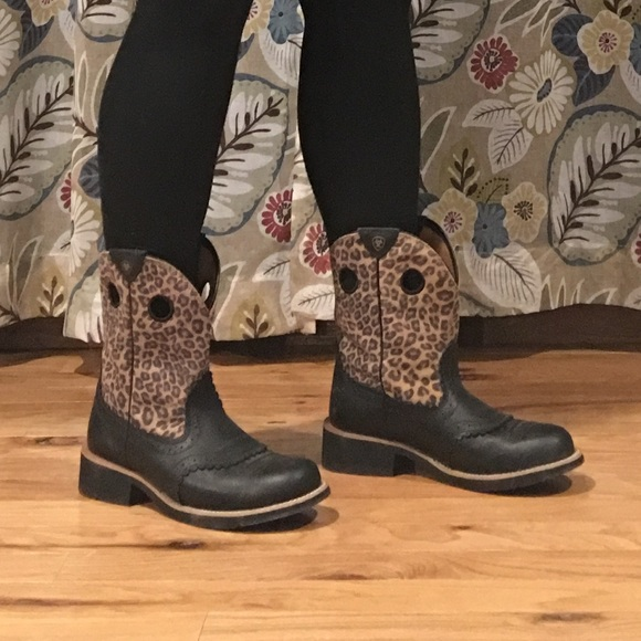 Ariat Fatbaby Leopard Boots